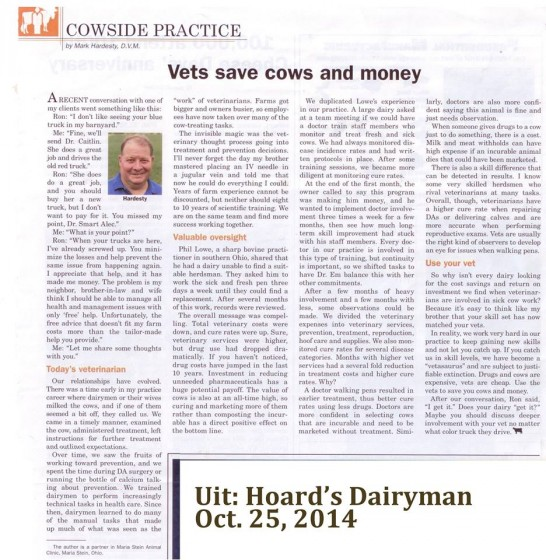 Vets save cows and money