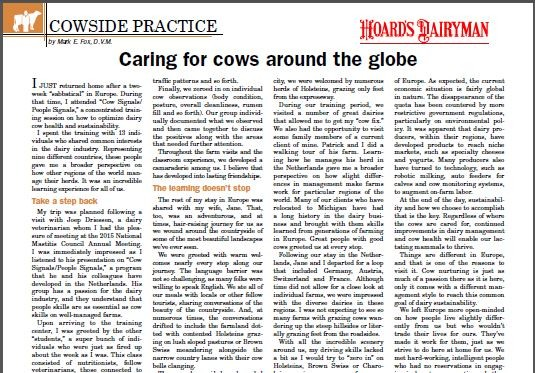 Caring for cows around the globe