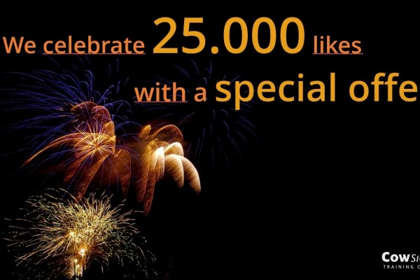 We celebrate 25.000 likes with a special offer