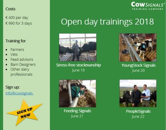 Open day trainings 2018
