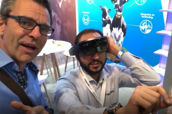 AR glasses for dairy farm management