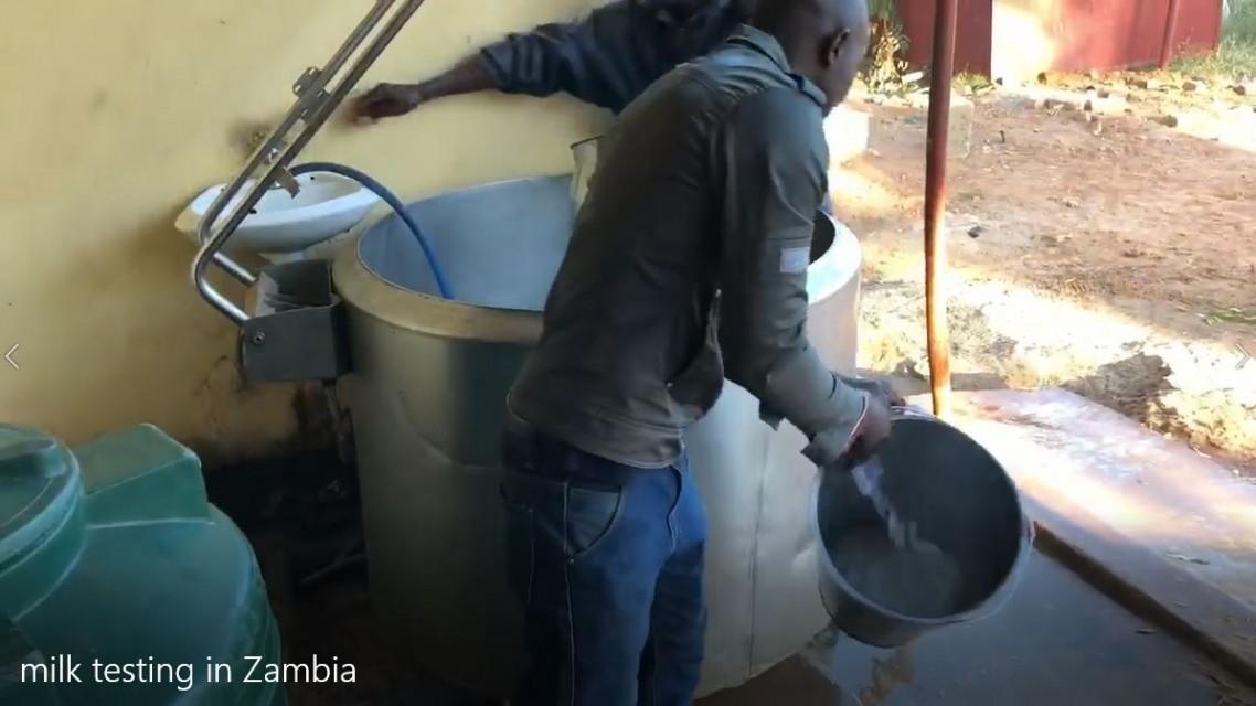 Milk quality testing in Zambia