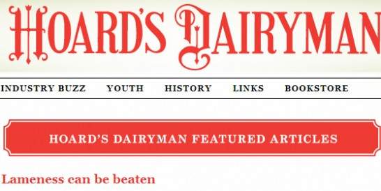 Cow lameness can be beaten (Hoard's Dairyman)